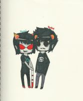 Karkat and Terezi by senpai1237
