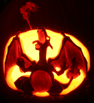 Charizard - Pumpkin of Fire by johwee