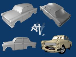 """Trabant """"Cars""""-Style WIP by DeathFromAbove86"""