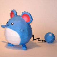 Marill Papercraft by Skele-kitty