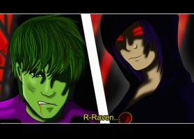 Beast Boy+Raven by shado-innen