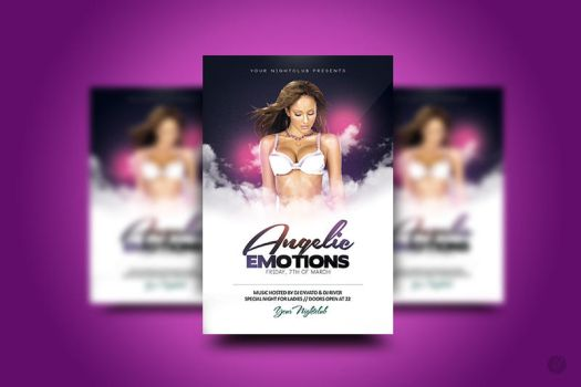 Angelic Emotions Flyer by YczCreative