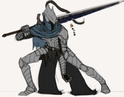 Artorias sketch 4 by Grieverjoe
