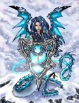 ice dragon fairy by djfreestyle