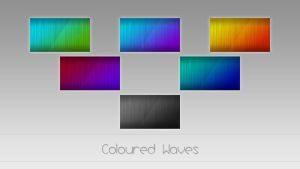 Coloured Waves by MGWallpaper