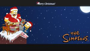 Wallpaper - The simpsons xmas by lmd1984