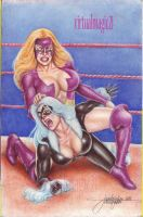 TITANIA vs BLACK CAT WRESTLING by JUN DE FELIPE 02 by rodelsm21
