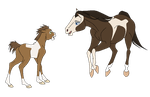 Mare and Foal - Base by Miss-Adopts