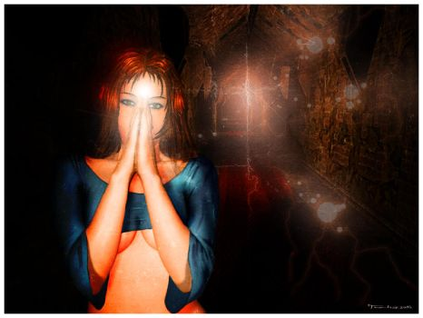 Ashley and a Light-Being by Turha