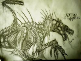 SCP-682 (HARD-TO-DESTROY-REPTILE) (SECOND VERSION) by HollowX4000