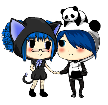 Commission.Animal Couple by Chiirisuke