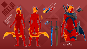 Arklai Reference Sheet by TheCrobot