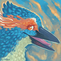i drawed a burd [trade] by VCR-WOLFE