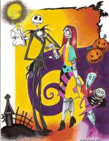 Jack and Sally Commission by chibiansem02