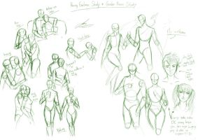 pairing gestures study + face by AOBAN