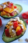 Avocado with Mango Salsa and Almonds by hpdphotos
