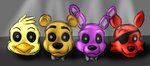 Just some FnaF heads by MaquettePonet
