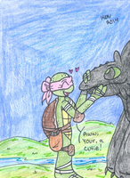 Emily meeting Toothless by Nicktoons4ever