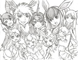 An Eevee Family by XXD17