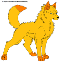 Tabby or Goldenspirit as a wolf by TheIndianaCrew