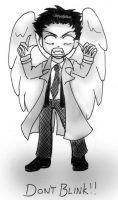 Weeping Angel Castiel by a-moosed