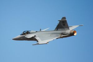 Gripen on reheat by artlovr59