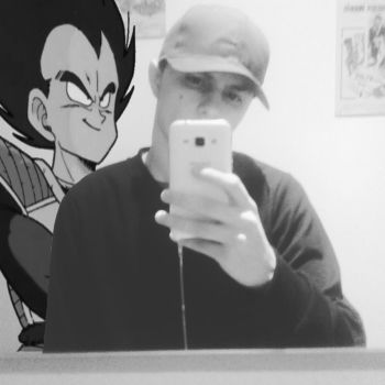 Selfie with Vegeta (Alone but pro like style ) by MaxFell001