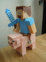 Minecraft piggyback by PerlerForFun