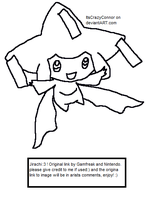Jirachi Base by ItsCrazyConnor