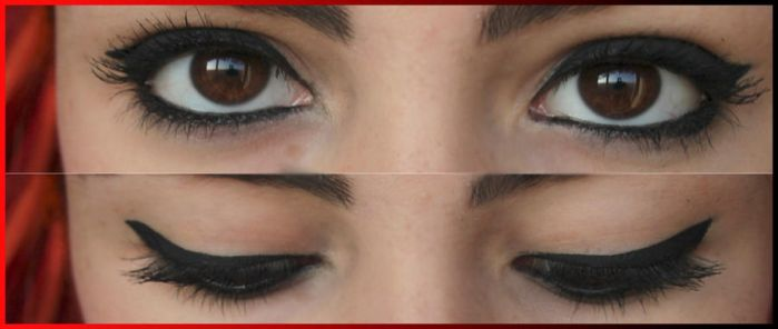 Make up with eyeliner by atteri