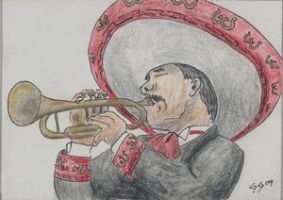 Mariachi Trumpeter by Jazzmanian