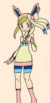 Ninfeon/Sylveon Contest Outfit/ Ginjinka by Lady-of-Ratatosk