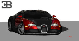 Bugatti Veyron on microsoft paint by Ant787