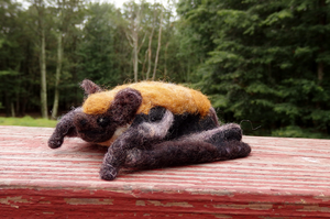 Felted Little Brown Bat by DancingVulture