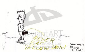 Never eat Yellow Snow by The-Simpsons-Fanclub