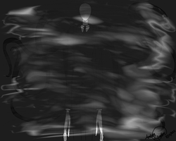 Drawing Slenderman by AmberWerden
