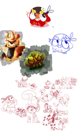 PMD: Misc Team Doodles by CheesyCrocs