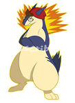 FC: Typhlosion Pokesona by KGScribbles