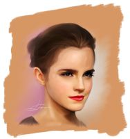 Emma Watson Speed Paint by LuisFaus