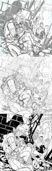Invincible 96 cover process 3 stages by RyanOttley