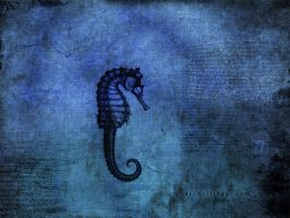 Blue Sea Dragon by softshapeart