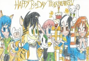 Happy Late Greatest B-Day TigerBreath13!! by FelixToonimeFanX360
