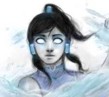 Korra.Speed paint - practice 2. by Kihiart