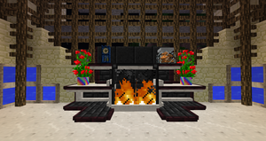 My Minecraft fireplace (First ever in existance) by Reciespecies