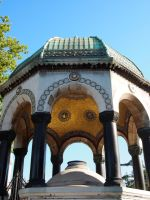A pavilion outside Blue Mosque by jacobjellyroll
