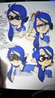[Old] Inkling!Dakota Reference Sheet~! by Pixelboid