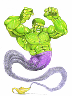 Hulk genie!! by martintimmins