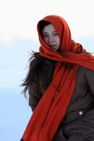the girl with the orange scarf by nicelandscape
