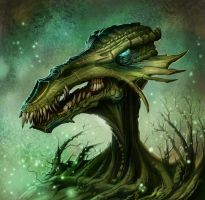 Swamp Dragon by MichaelJaecks