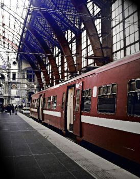 Trainstation Antwerpen Belgium by Silviaaap